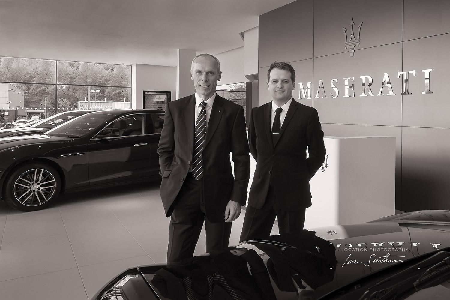Maserati Dealership sales team prtrait