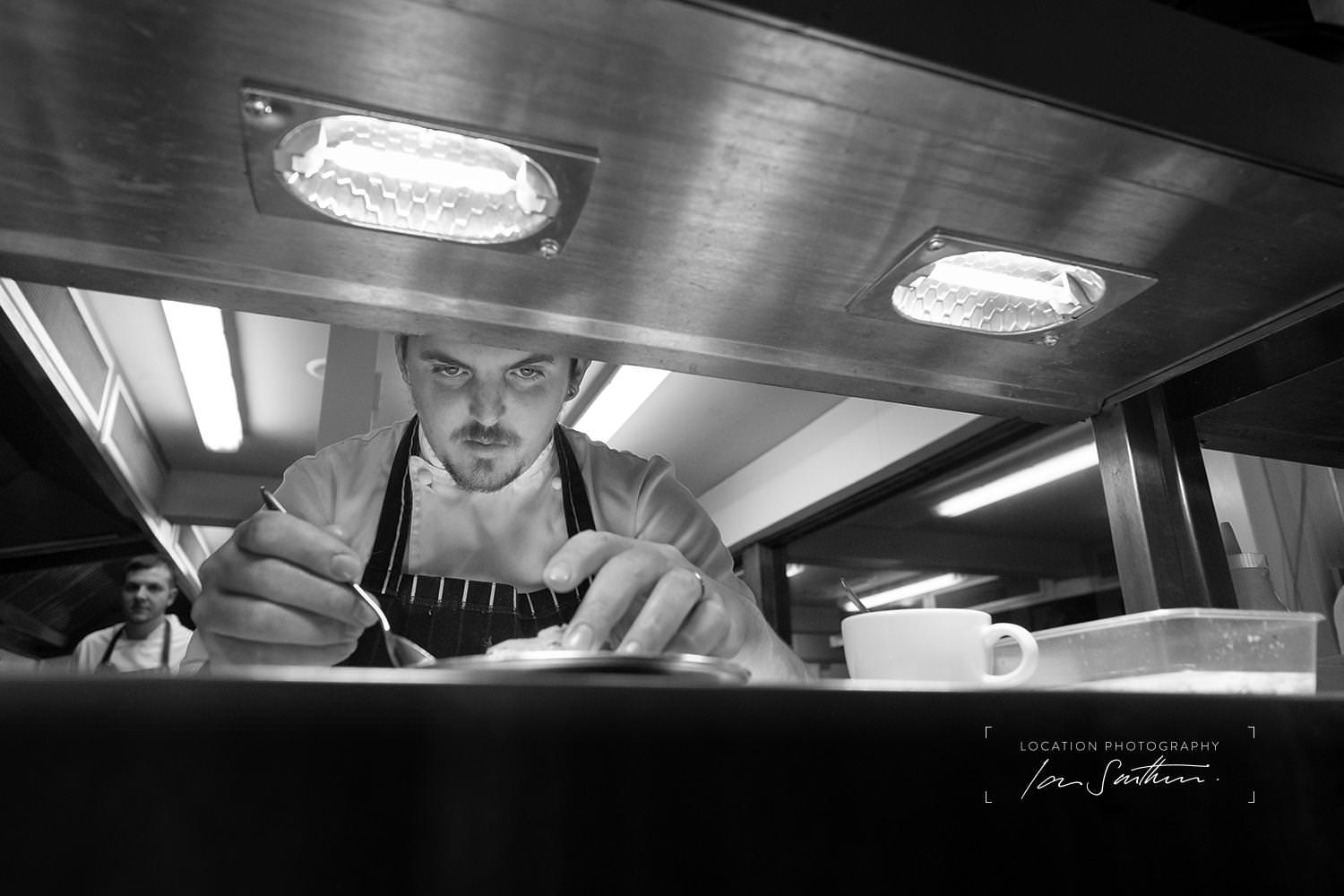 Chef at work, location photography