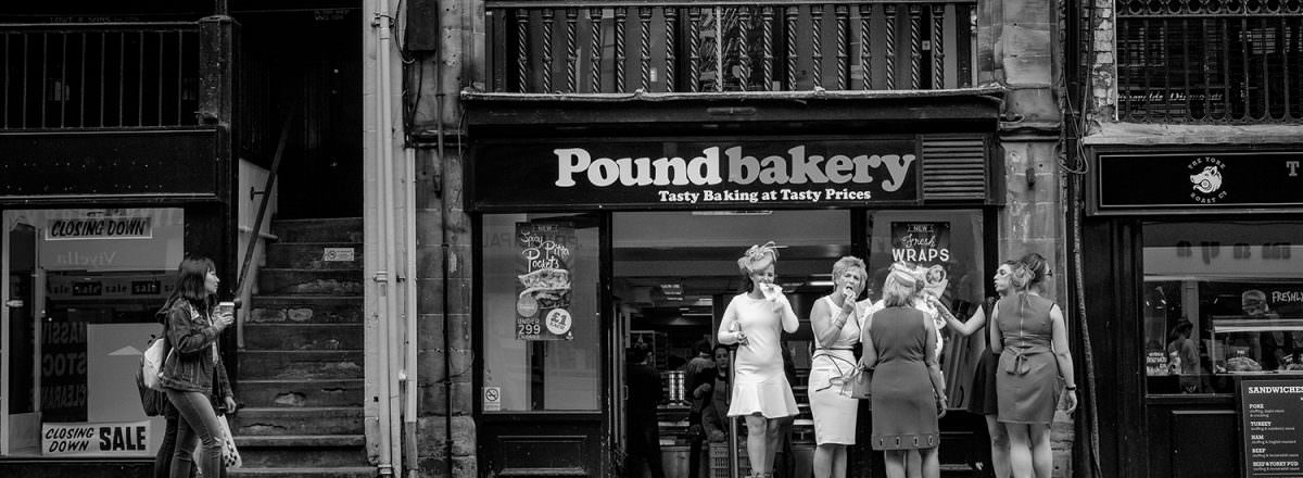 Eating pies in chester, editorial photograph