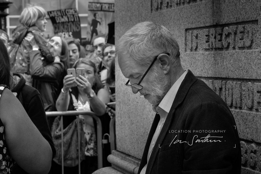 editorial photography of Jeremy Corbyn
